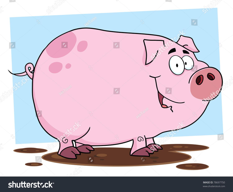 猪可爱的卡通人物