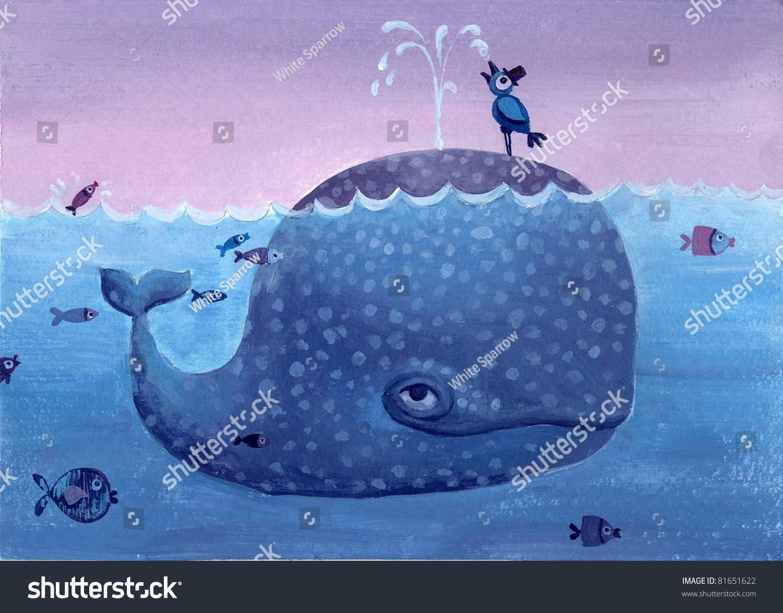 创意鲸鱼手绘图片