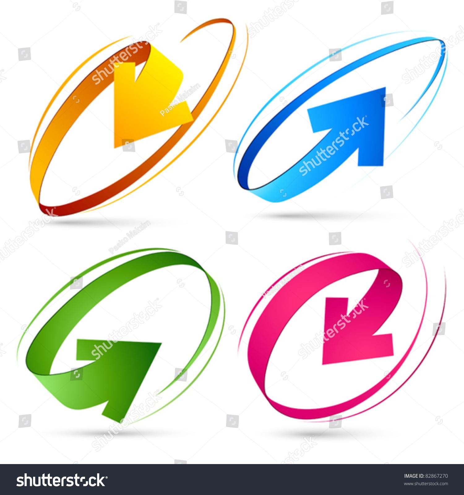 彩色箭头收藏-艺术,符号/标志-海洛创意(hellorf)--.