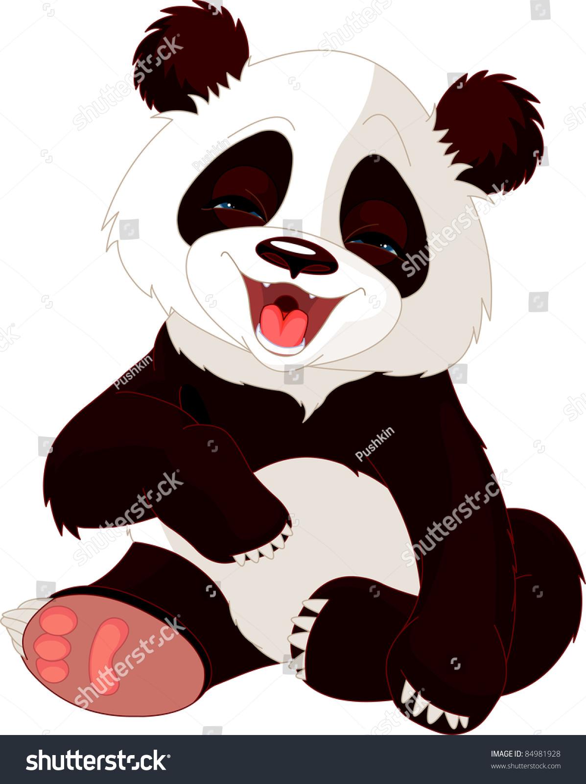 非常可爱的熊猫宝宝笑了-动物/野生生物,自然-海洛()