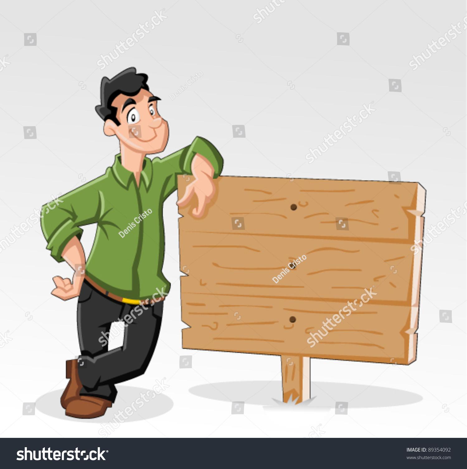 木头牌卡通图片