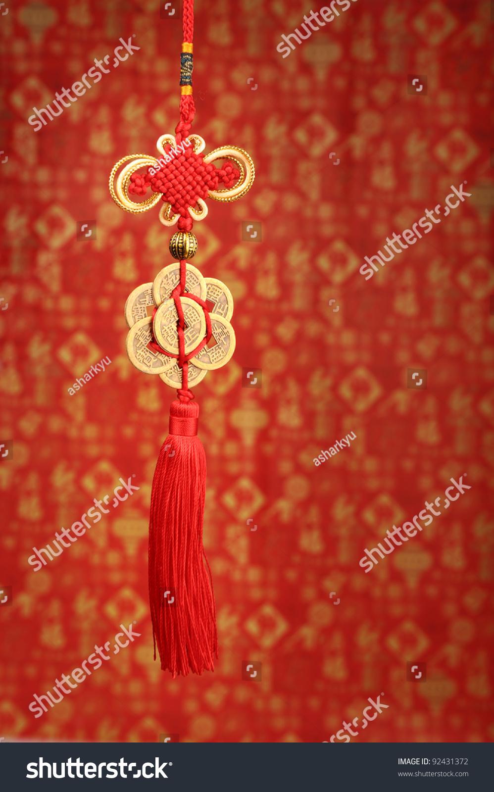 中国新年祝福幸运结-背景/素材
