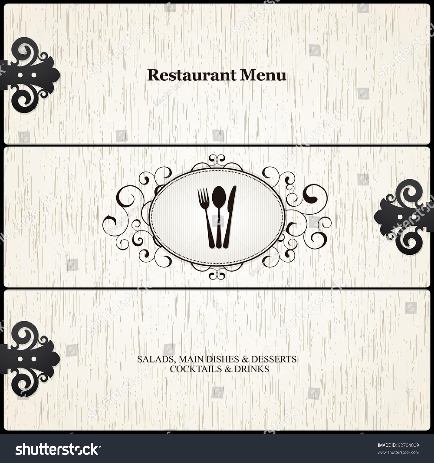 餐厅菜单设计-食品及饮料,背景/素材-海洛创意()-中国