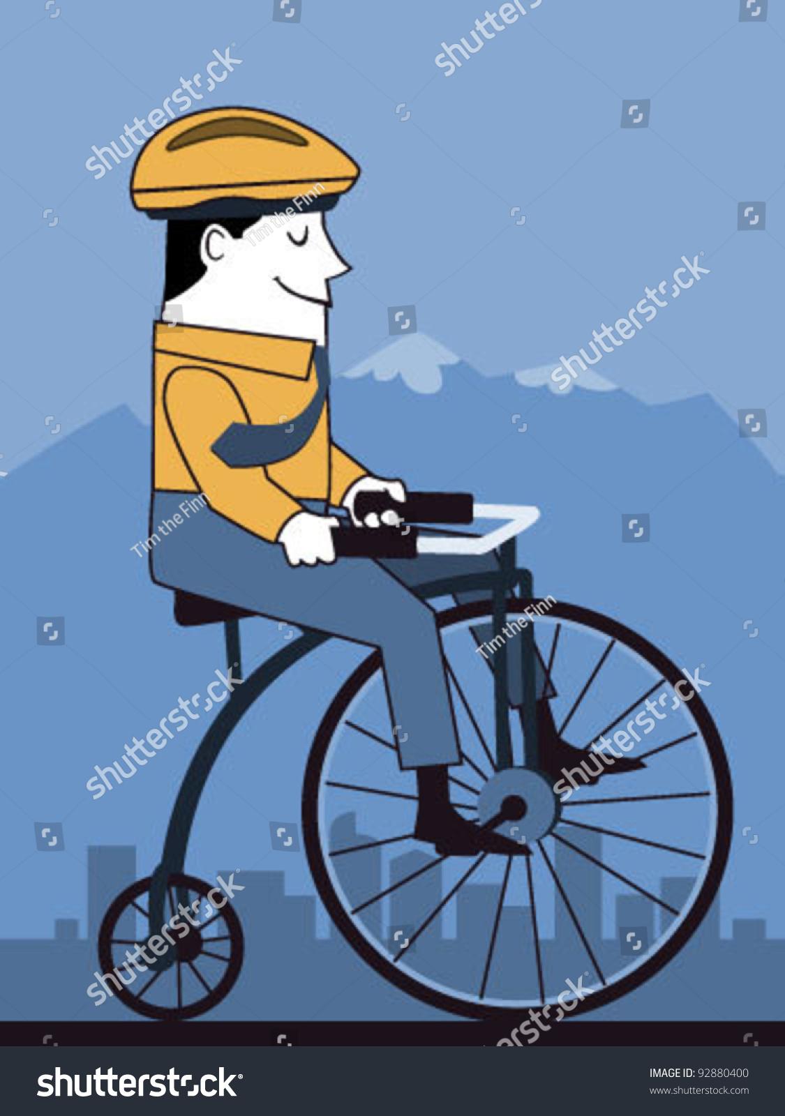 创意插画手绘单车