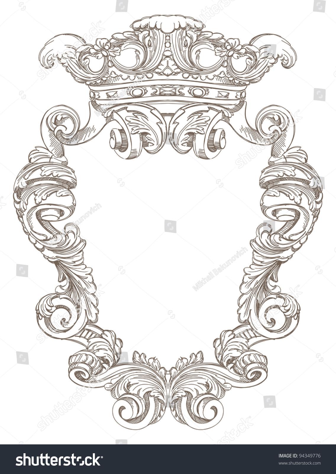 盾形纹章-背景/素材,复古风格-海洛创意(hellorf)--.