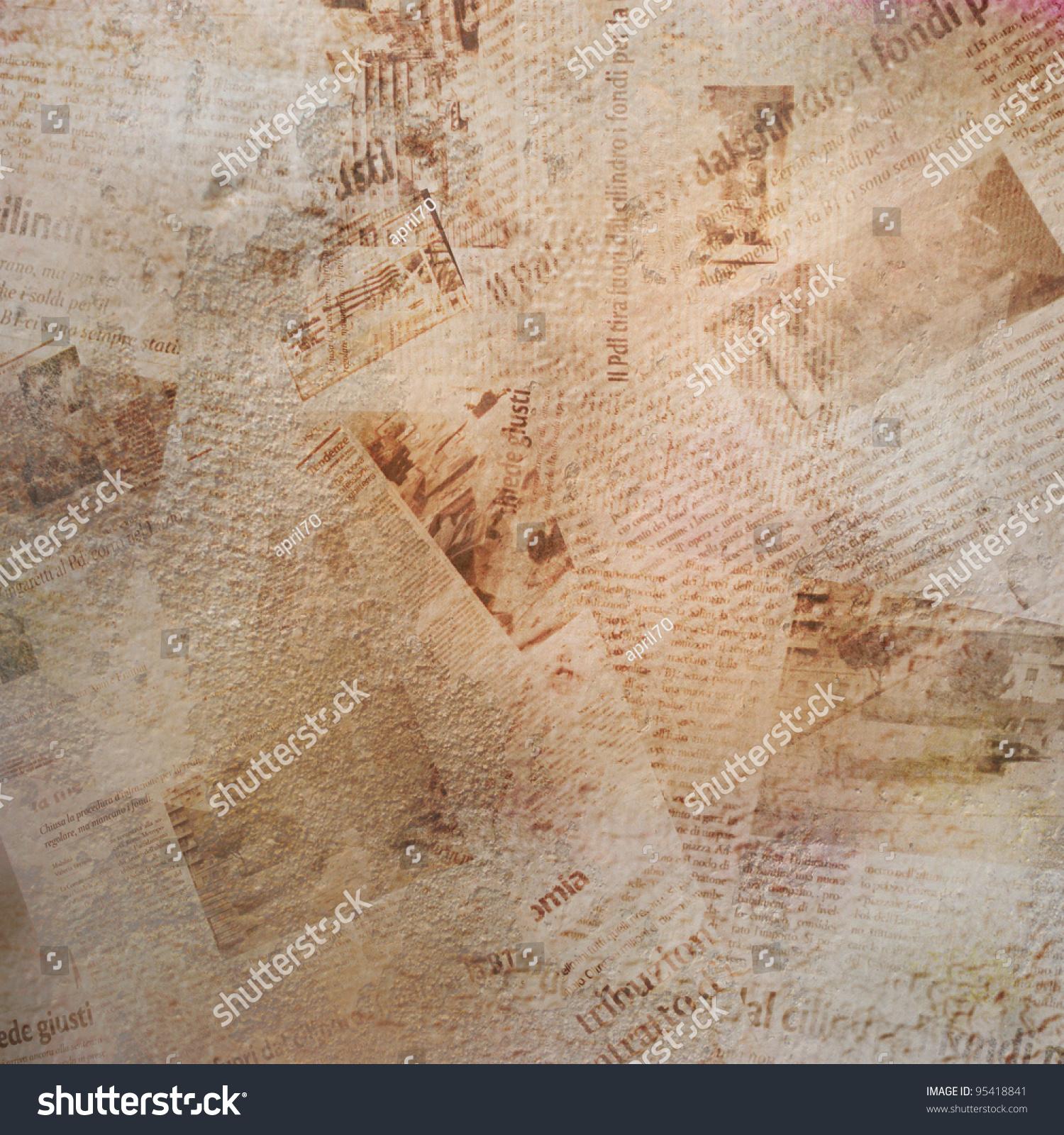 枯燥乏味的背景,旧报纸-背景/素材,复古风格-海洛创意